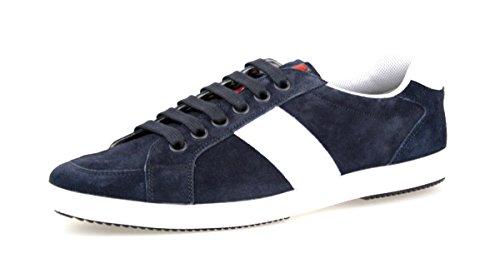 Prada Mens 4e2845 054 F0008 Läder Sneaker