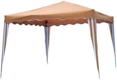 GARDEN DELUXE - Cenador Gazebo Plegable De Acero Y Tela Jardin Camel: Amazon.es: Jardín