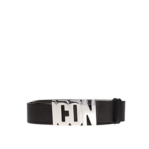 (Women's Shoes Dsquared2 Icon Black Leather Belt FW 19-20)