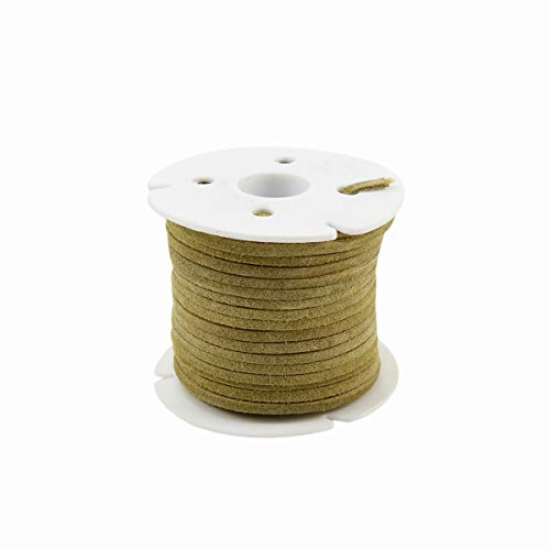 3mm Buckskin Leather Lace 25 Yd Spool Jewelry Making Thread Cording Suede ()