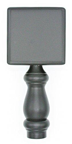 Home Bar Beer Tap (Black Chalkboard Beer Tap Handle Display Made of Wood for Homebrew, Kegerators, or Bars)