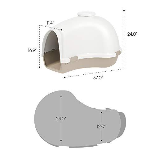 IRIS IDH-L Large Igloo Shaped Dog House, White/Almond by IRIS USA, Inc. (Image #6)