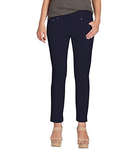 Jag Jeans Women's Petite Amelia Slim Ankle Pull on Jean, Nautical Navy, 8P