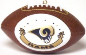St. Louis Rams Ornaments Football - Licensed NFL Memorabilia - Los Angeles Rams Collectibles