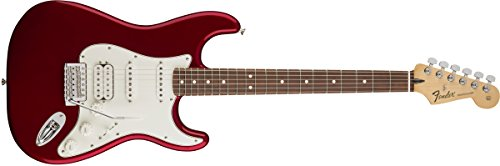 Fender Standard Stratocaster Electric Guitar - HSS - Pau Ferro Fingerboard, Candy Apple - Guitar Hss Stratocaster Deluxe Electric