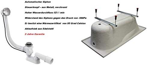 BADLAND Eckbadewanne Badewanne Eckwanne Acryl Mia 140x140 mit Acrylsch/ürze F/ü/ßen und Ablaufgarnitur GRATIS