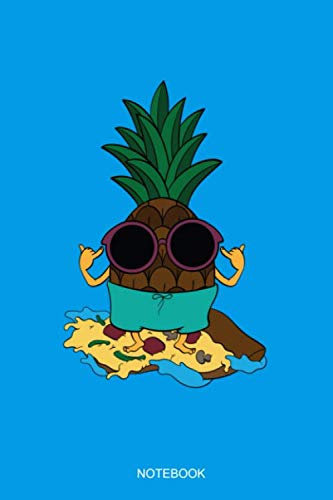 Notebook: Liniertes Notizbuch A5 - Ananas Sonnenbrille Surfer Pizza Hawaii I Sommer Urlaub Geschenk (Süße Sonnenbrille)