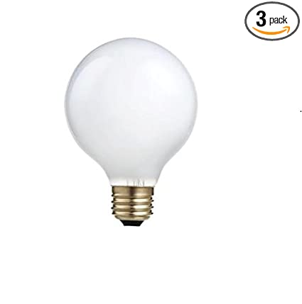 Philips 433698 Halogen 40W Halogen G25 White Decorative Globe Light Bulb (3 Pack)