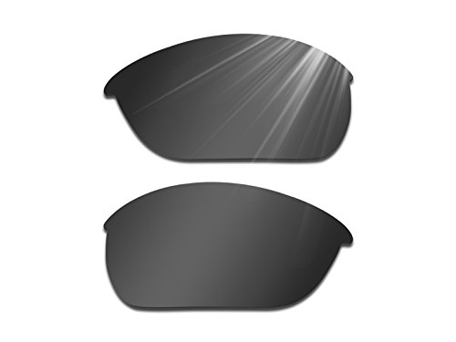 Replacement Lenses Eyewear Glasses - Glintbay Harden Coated Replacement Lenses for Oakley Half Jacket 2.0 Sunglasses - Polarized Advanced Black
