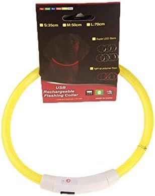 Ularma Collar de perro rosa USB recargable impermeable LED parpadea luz Collar del animal dom/éstico