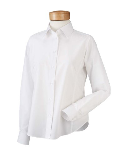 Chestnut Hill Ladies Executive Performance Broadcloth Shirt - White CH600W XXL - Executive Button Down Shirt