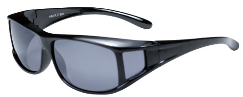 Hilton Bay Polarized Over-Prescription Sunglasses P77 (Black & - Polarized Over Rx Sunglasses