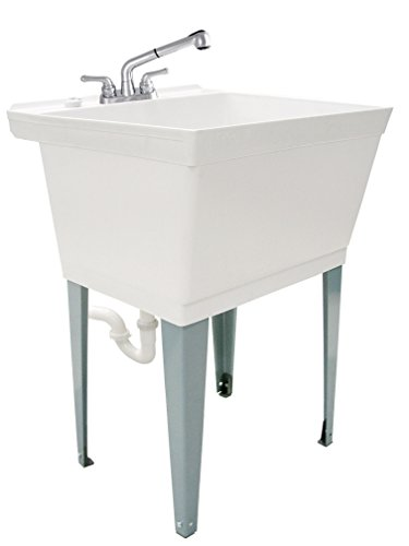 Nice LDR 040 6000 Complete 19 Gallon Laundry Utility Tub Set With Pull Out  Non Metallic Faucet