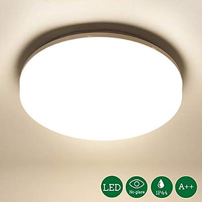 Öuesen Lámpara de techo LED, plafon led de techo superficie,1650 lúmenes, Color Blanco frío, 4000K,18W equivalente a 100W,IP44 resistente al agua, ...