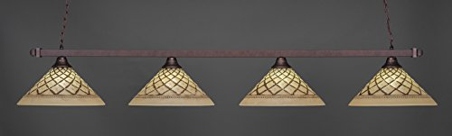 - Toltec Lighting 804-718 Billard Pendant