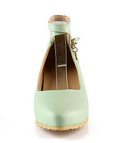 LDMB Chaussures peu profondes filles de la bouche de filles pointue pointe faible pour aider les chaussures , green , 38