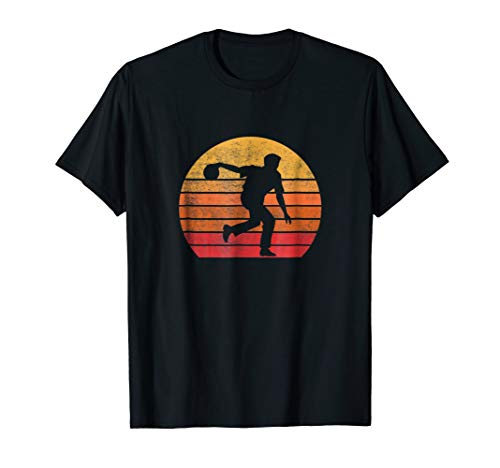 Bowling Lover Vintage Retro 80s T Shirt Gift Sport Idea