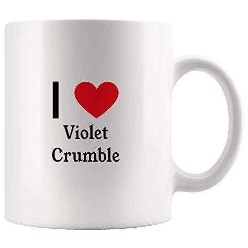 I Love Violet Crumble Tea and Coffee Mug: 11oz Tea and Coffee Mug Merchandise For Fans Of Violet Crumble! ()