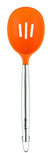 Allrecipes Stainless Steel and Silicone Jumbo Slotted Spoon