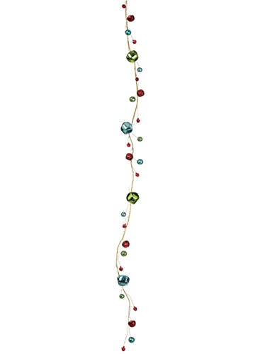 Sullivans 5' Multicolor Jingle Bells Gold-Tone Wire (Bell Strings)
