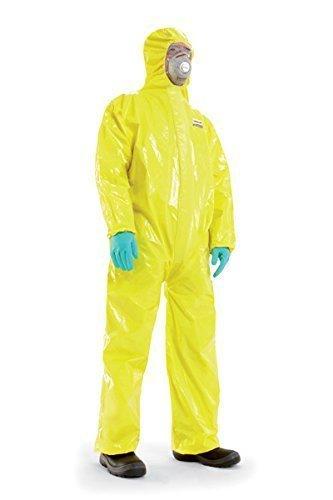 Flüssigkeitsdichter Infektions Schutzanzug Gr. XXL Honeywell SPACEL mit integrierten Handschuhen und Füsslingen, Kat III Typ 3, 4, 5 und 6 - mit Kennbuchstabe