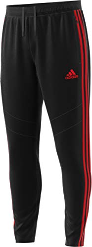 adidas Men's Tiro19 Training Pants, Black/Red, X-Small -