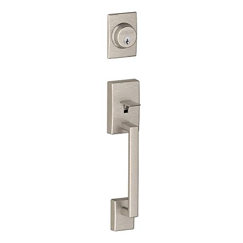 Schlage F92-CEN Century Dummy Exterior Handleset from The F-Series, Satin Nickel