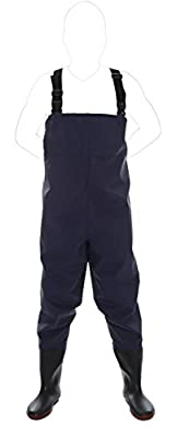 CaoBin Fishing Chest Waders with Boots Wading Pants with Shoes to Waist Waterproof Hip Waders 9-13