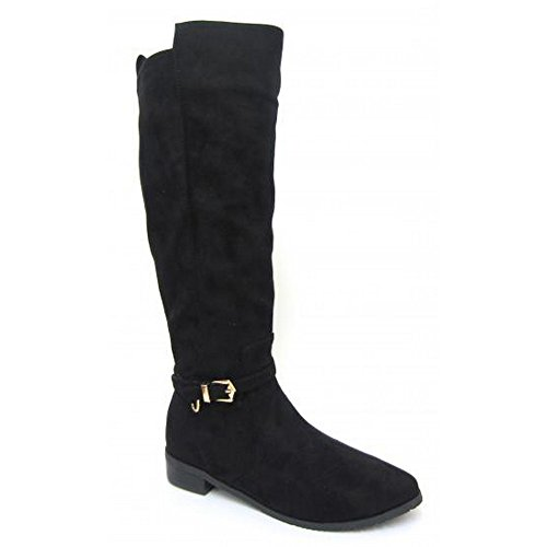 Womens High Knee Black ladies Boots On Spot Winter 4xIq5Wt