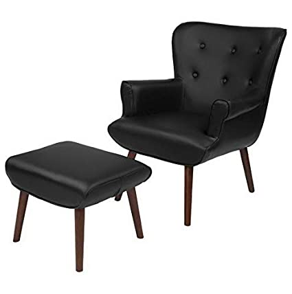 Amazon.com: Hebel Bayton Upholstered Leather Wingback Accent ...