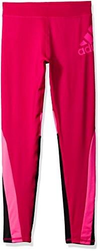 adidas Little Girls' Performance Tight Legging, Bold Pink, 5