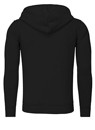 Akito Tanaka Sweater Men VERTICAL ZIP SWEAT Schwarz Weiss, Größe:S