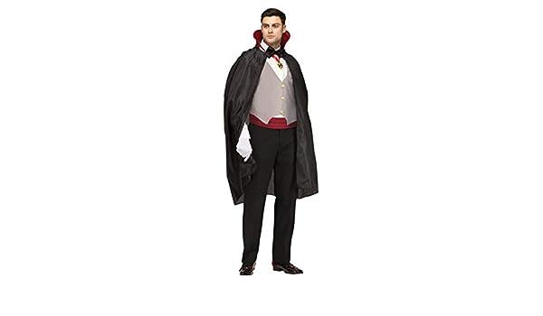 Disfraz Drácula clásico con cuello rojo: Amazon.es: Juguetes ...