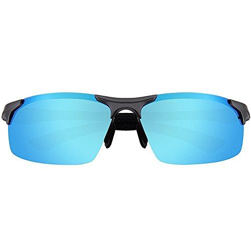 Hommes Lunettes Charnières Aviateur MG Al Alliage Blue Soleil Soleil De Couleur UV400 Femmes SunglassesMAN Polarisées Lunettes De Yxsd Miroir Black Plein pour Premium De Printemps OwxqfRa