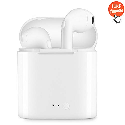 Bluetooth Headphones V4.2 Magnetic Wireless Earbuds HD Stereo Noise Reduction Sports Headphones with Microphone Anti-Sweat Headphones for Apple Airpods iPhone Xs X 8 7 6 Plus