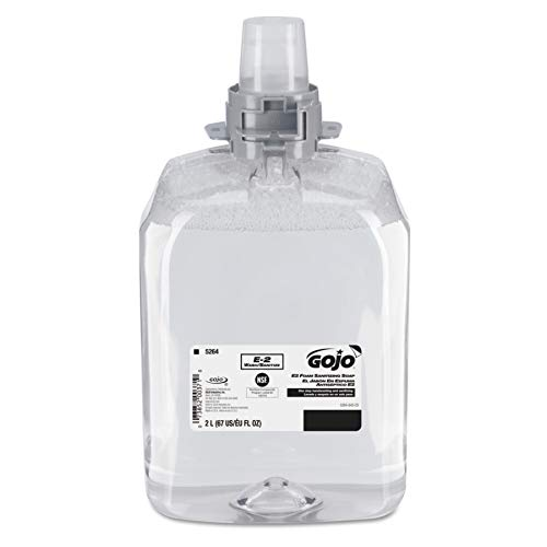 GOJO 526402 E2 Foam Sanitizing Soap, 2000 ml Refill (Case of 2)