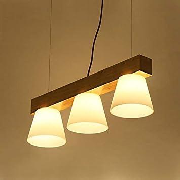 BCX la iluminación de la Madera y el Comedor de la luz 3 candelabros, Nordic
