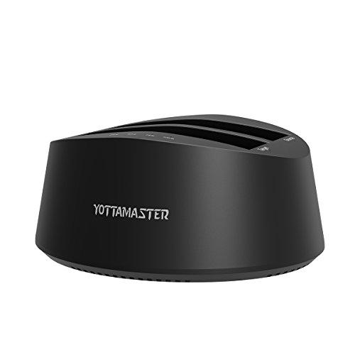 Yottamaster Dual-bay 2.5/3.5 Inch USB3.0 to SATA3.0 SSD/HDD Docking Station Support Offline Clone [UASP & 2 x 8TB] -Black by Yottamaster (Image #7)