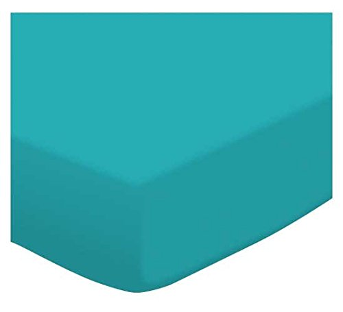 SheetWorld Fitted Youth Bed Sheet - Teal Jersey Knit - Made In USA