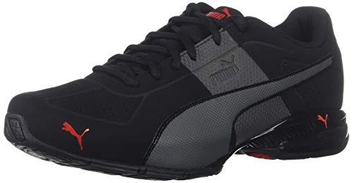 PUMA Men's Cell Surin 2 FM Sneaker, Black-Dark Shadow-high Risk red, 11.5 M US