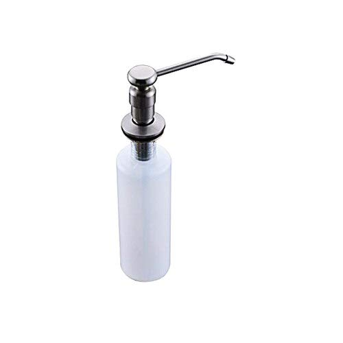 BIG-DEAL,vintage faucet and accessories_ Brushed Nickle Head Kichen Sink Liquid Soap Dispenser Plastic Bottle 220ml - (style A) ()