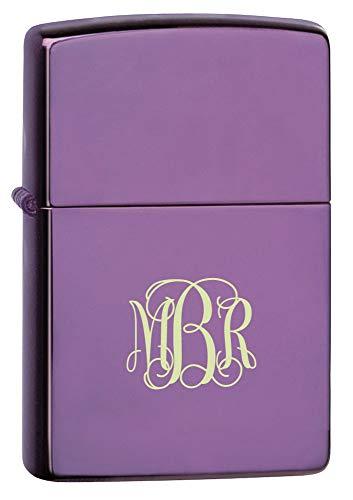 Personalized Zippo Abyss Purple Lighter with Free Interlocking Monogram Engraving ()