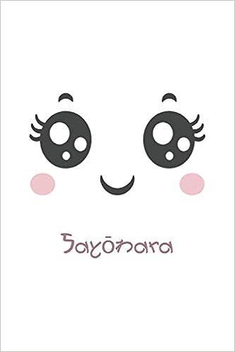 Amazon Com Eye Kawaii Sayōnara Japanese Notebook Kawaii Lined
