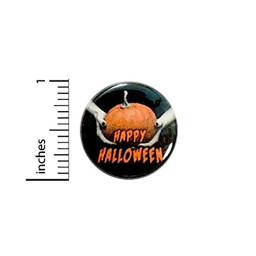 Happy Halloween Button Pumpkin Trick Or Treat Bag