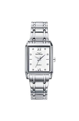 Sandoz 81326-03 - Reloj de mujer de cuarzo Suizo, con caja de acero