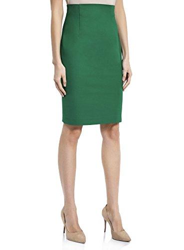 oodji Collection Mujer Falda Recta de Cintura Alta Verde (6E00N)