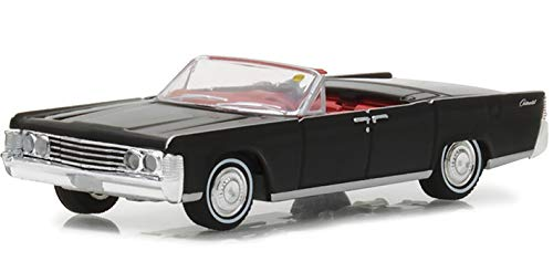 1965 Lincoln Continental Convertible Black (Indianapolis 2016) Mecum Auctions Collector Series 2 1/64 Diecast Model Car by Greenlight 37140 A