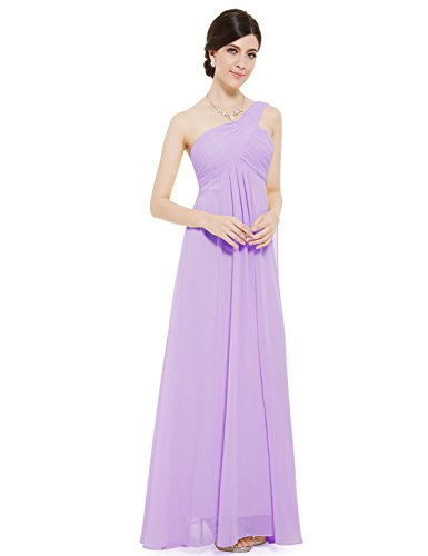 Ever Pretty One Shoulder Padded Ruffles Fashion Long Evening Dresses 09816