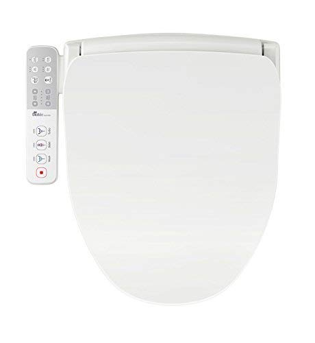 Bio Bidet Slim One Smart Toilet Seat in Round White with Stainless Steel Self-Cleaning Nozzle, Nightlight, Turbo Wash, Oscillating and and Fusion Warm Water Technology,