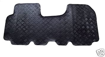 Black Edging Heavy Duty 3mm Rubber Car Mats 1-Piece Set Tailored//Compatible to Fit Citroen Relay 2006-2019 Lusso Floor Carpet Mats for Car